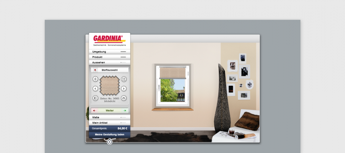 gardinia blinds customizer