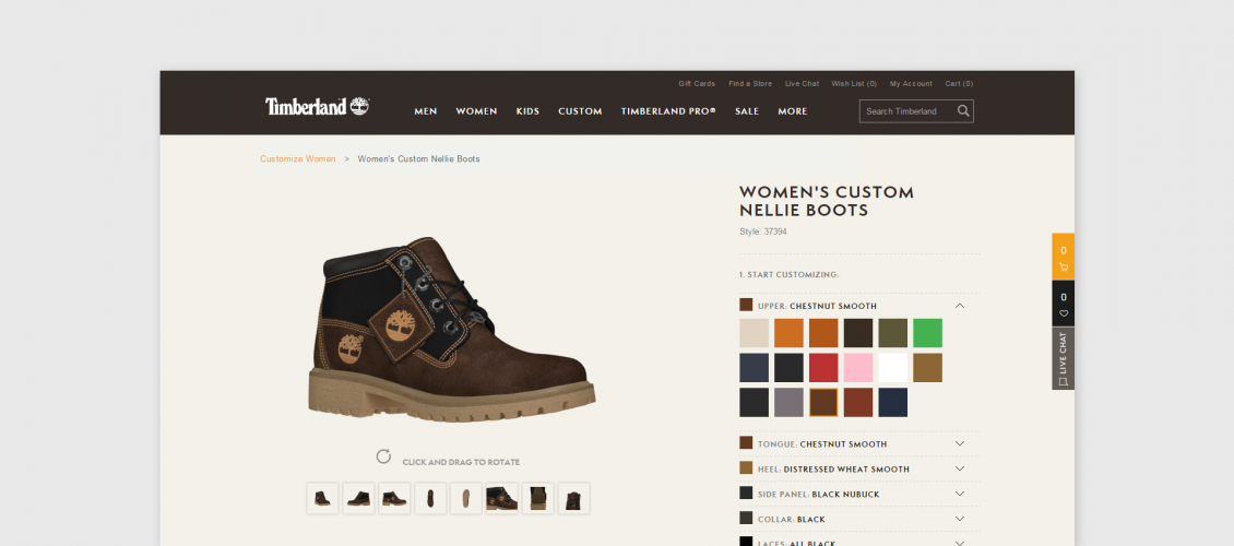 timberland shoes configurator