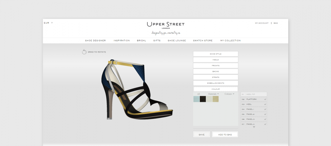 upper street shoes visual customizer