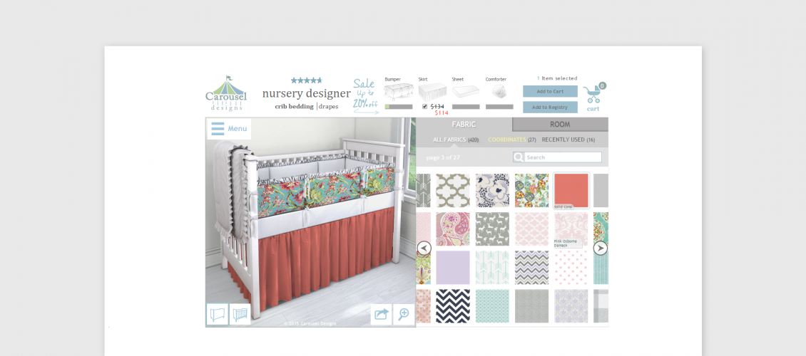 baby crib customizer