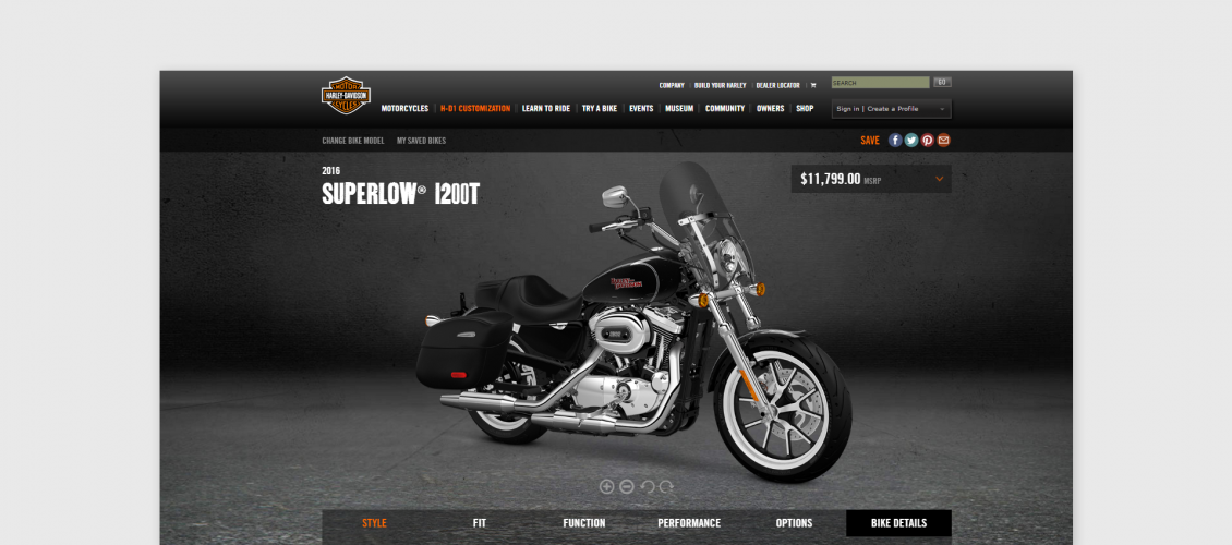 Smart customizer > Inspirations > Harley Davidson motorcycles