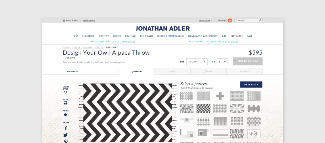johnatan adler blanket customizer