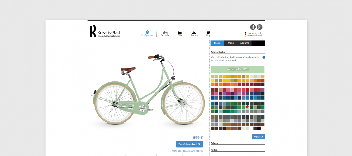 kreativ rad bike cpq software