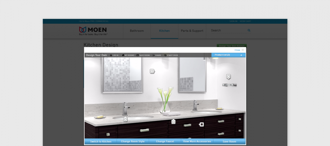 moen bathroom customizer