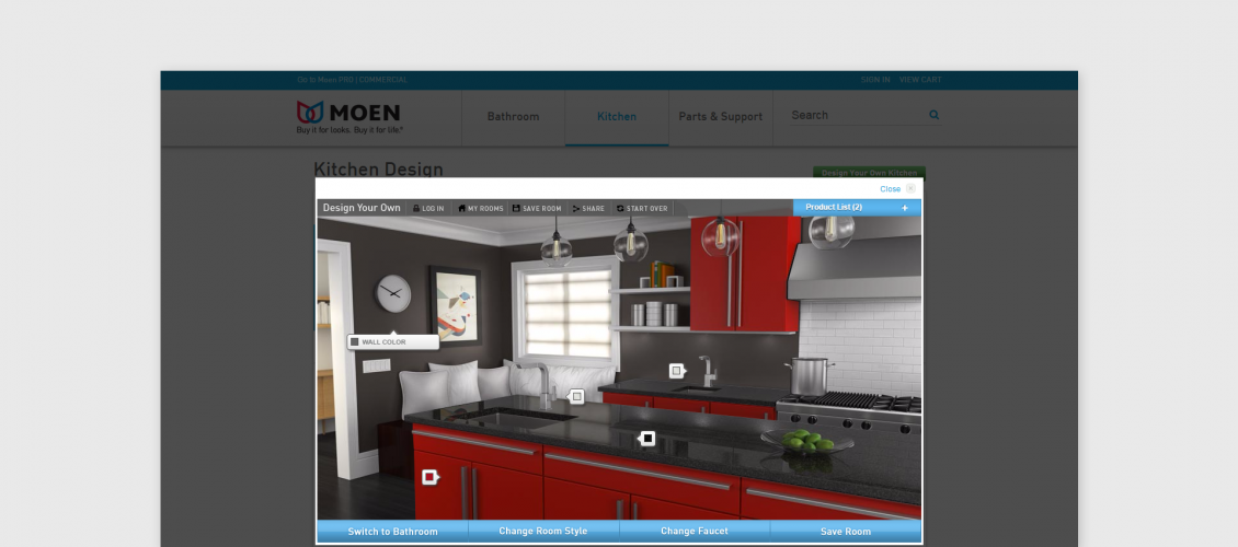 moen kitchen configurator