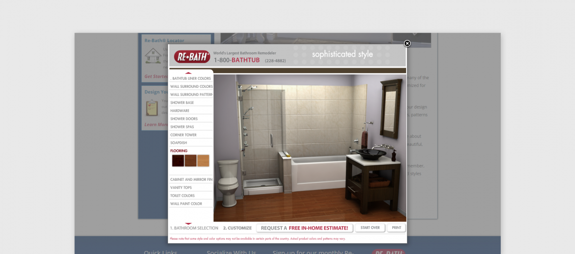 rebath bathroom customizer